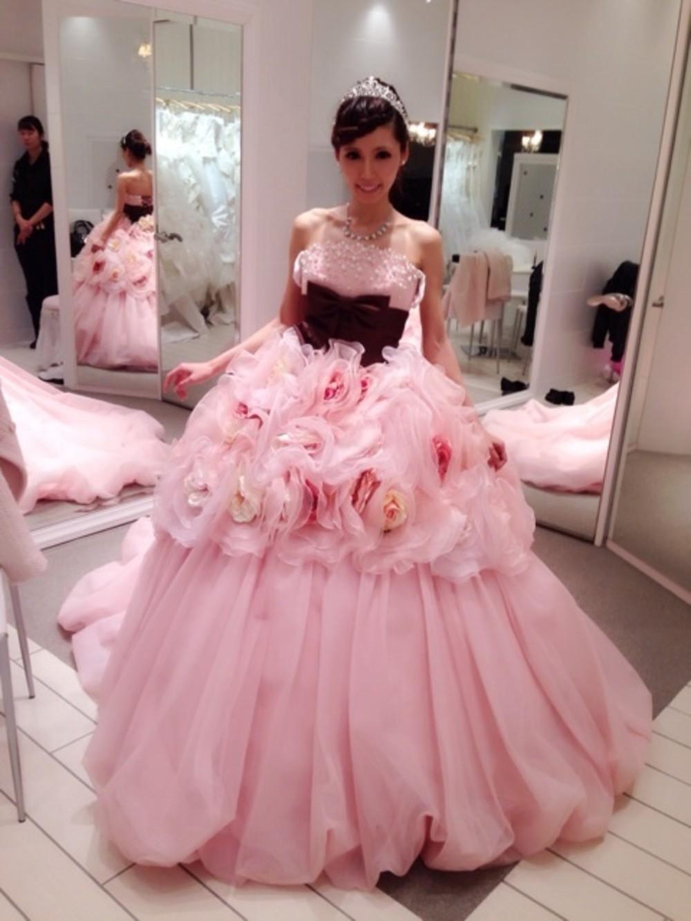 8509ee24cf672 ピンク ウェディングドレス ZENANのコーディネート一覧
