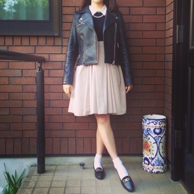 レトロなスカートが可愛い甘辛MIXでデートに行こう♡