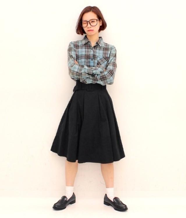 チェックシャツでギークファッション♡