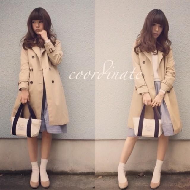 ゆるふわ♡ きれいめトレンチコートファッション♡
