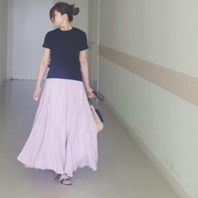 マキシスカートみたい! ボリューム感たっぷりなプリーツパンツ