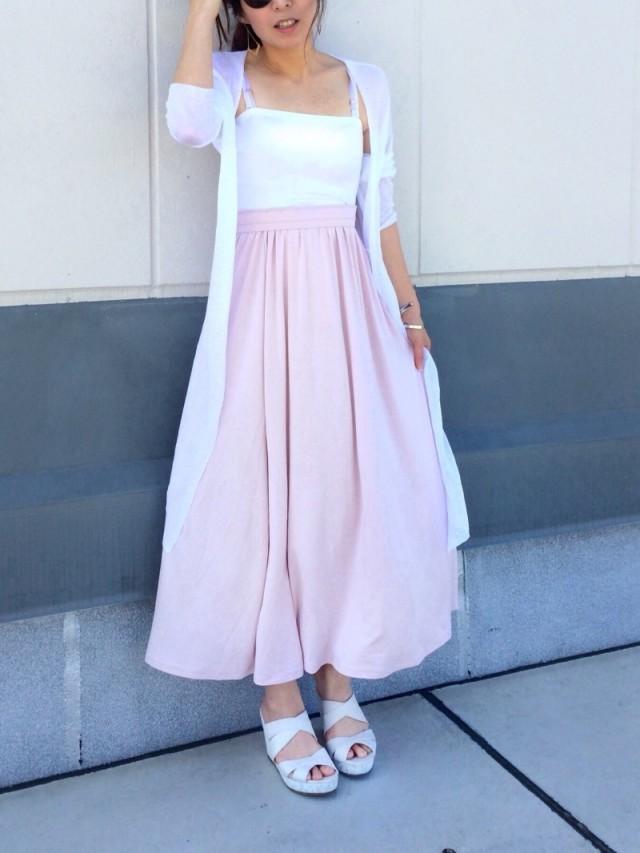 透け感サーキュラースカートが可愛い