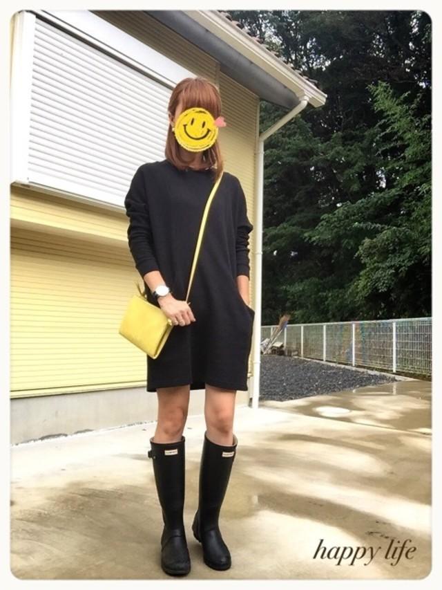 ロングブーツでおしゃれに雨をしのいで