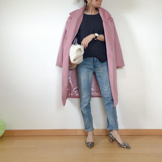 甘いだけじゃない♪ こなれた攻めのピンクコート
