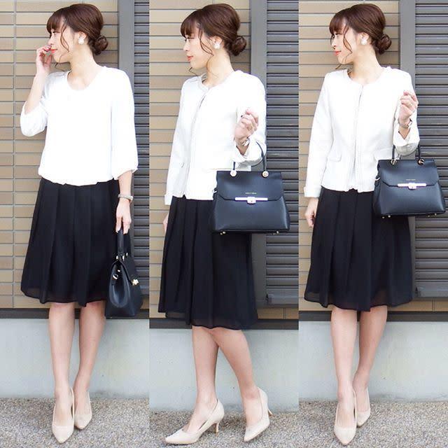 【入学式×卒業・卒園式ママコーデ: 2】ホワイトカラーで顔まわりを明るく