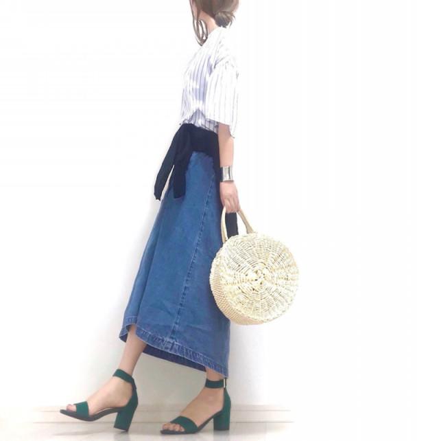 トレンド感たっぷり♪ 美シルエットなフレアのデニムスカート