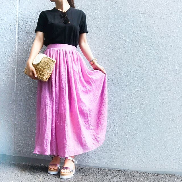 プチプラなのに高見え! KOBE LETTUCE(コウベレタス)のリネン調スカート