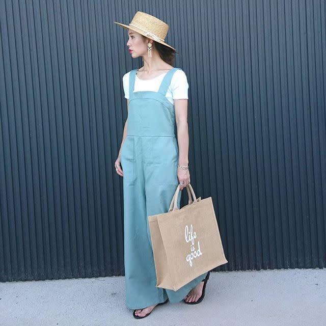 ブルー系サロペット&ワンピースで清潔感のある着こなしに