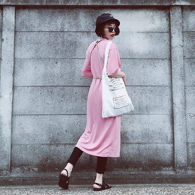 愛らしいピンクワンピースをレイヤードで旬の着こなしに♥