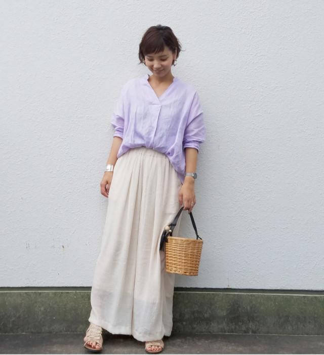 マキシスカートみたいなフレアのワイドパンツ