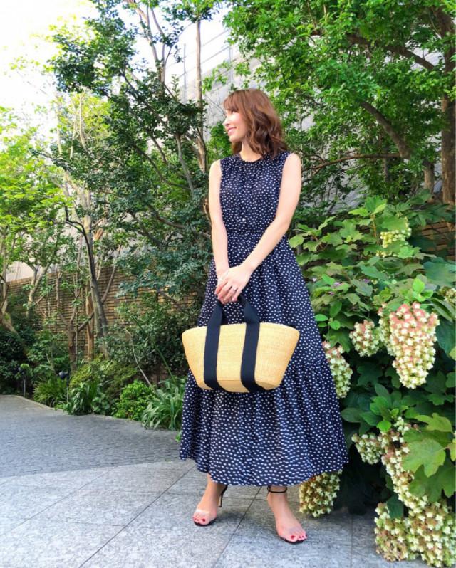 【ママのお出かけバッグ/ 02】夏らしいかごバッグで季節感も◎