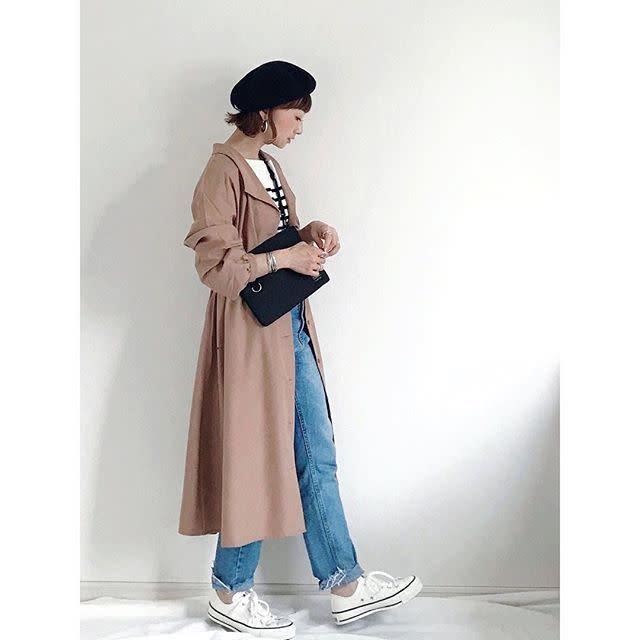 【羽織って着る/04】フレンチスタイルをトレンドシルエットに格上げ