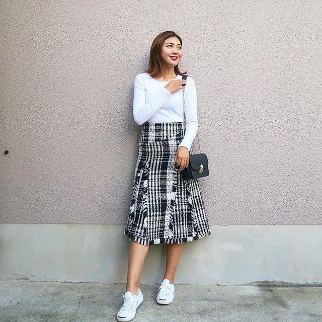 LEFUA(レフア)の華やぎスカートで大人可愛いスタイリングに!