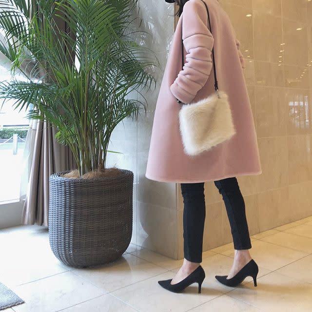 マルチに使える淡ピンクコートでモテ女子に!