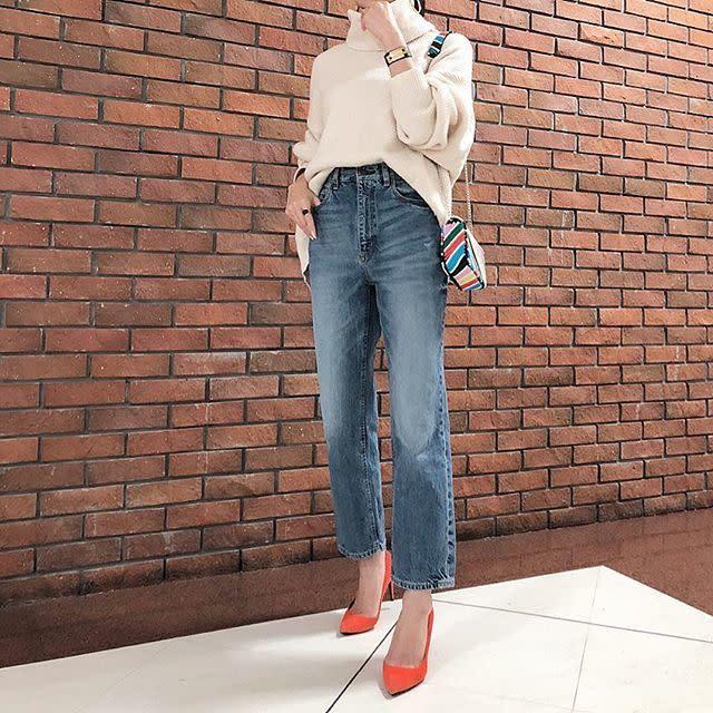 40代女性の服装×【GU】プチプラアイテム:美シルエットのデニムパンツで叶えるスタイルアップコーデ