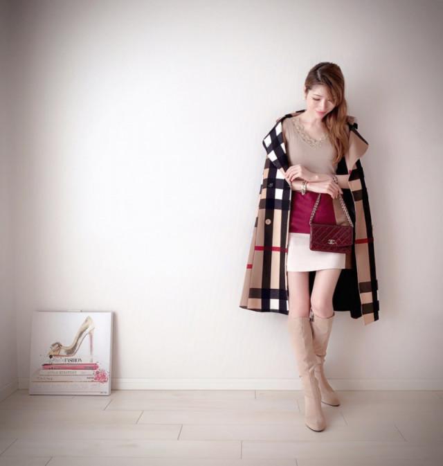防寒対策をして楽しみたい、冬のミニスカートコーデ