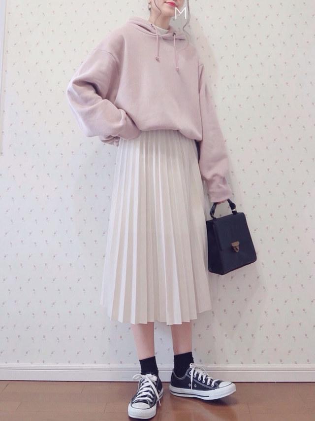 【キュート♪ ゆったりトップス/03】ピンクとホワイトで春ならではの愛らしさ