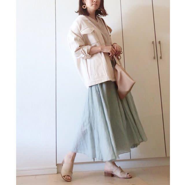 この見た目でプチプラ価格! 軽やかな「リネンマキシ丈スカート」