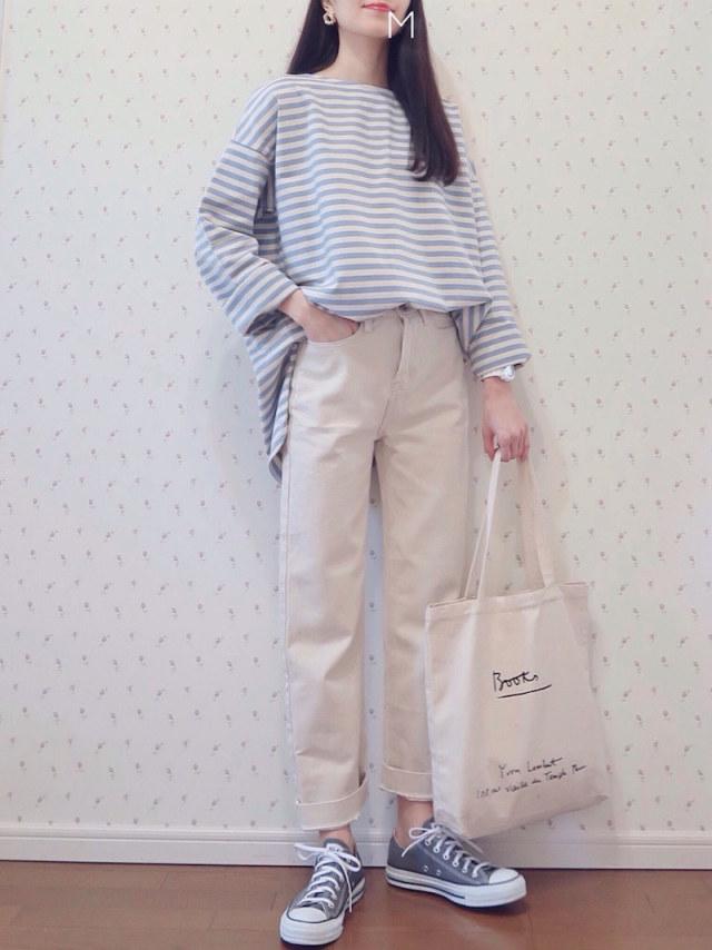 【遊園地デートの服装におすすめのアイテム/04】ボーダートップスでイメージを一新!