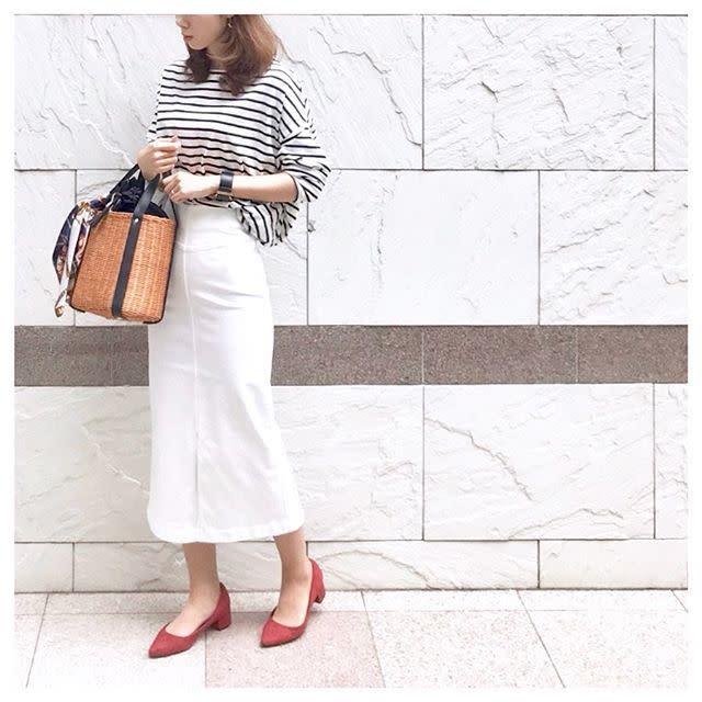 【デート】タイトスカートで女っぽさをプラス