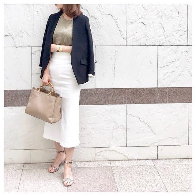 【soliさんに学ぶ通勤コーデ:その4】きちんと感のあるジャケットスタイルもお手の物