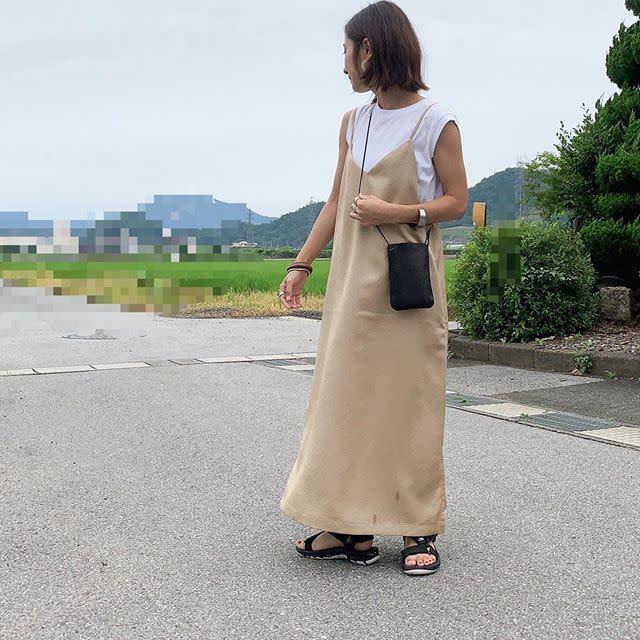 【中華街デート】動きやすさを重視! キャミワンピレイヤードの甘辛ミックス