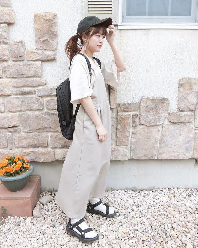 【ポケモンGOの大人女子コーデ3/ 帽子&水筒】日除けと水分補給はしっかりと!