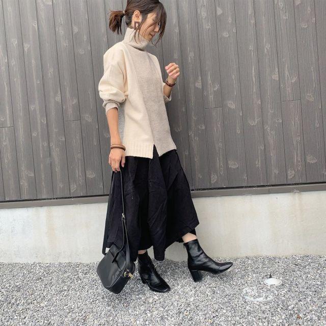 履き回しやすい! ベーシックな黒のショートブーツ
