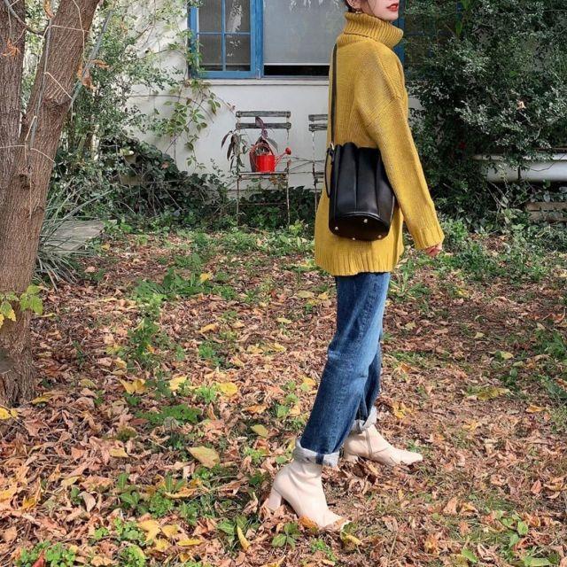 2019年11月のレディースファッショントレンド/02【ホワイトブーツ】
