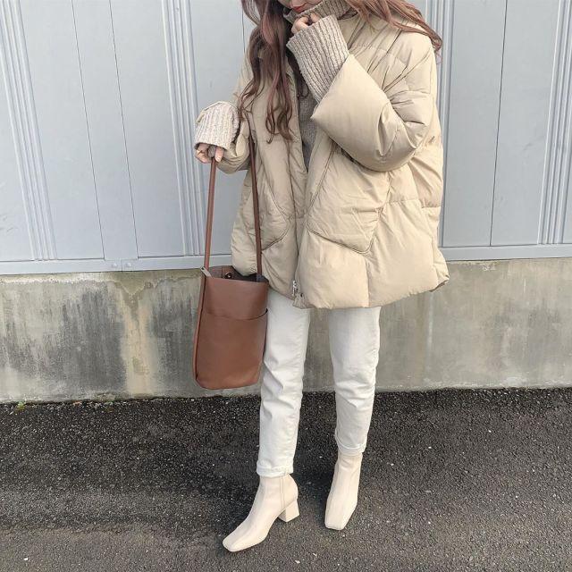 ホワイトからベージュへ。ニュアンスのある冬スタイルを