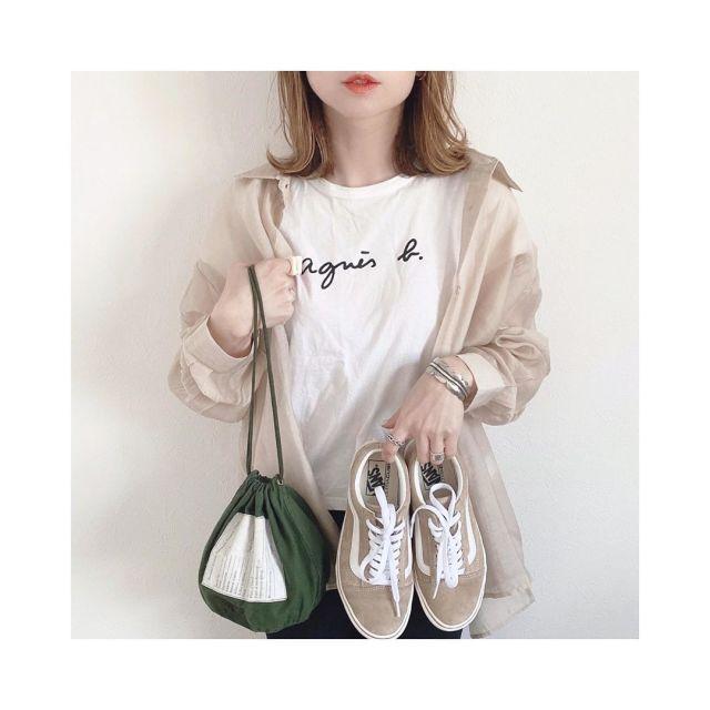 ファッショニスタに愛用者が多い「agnes b.(アニエスベー)のロゴTシャツ」