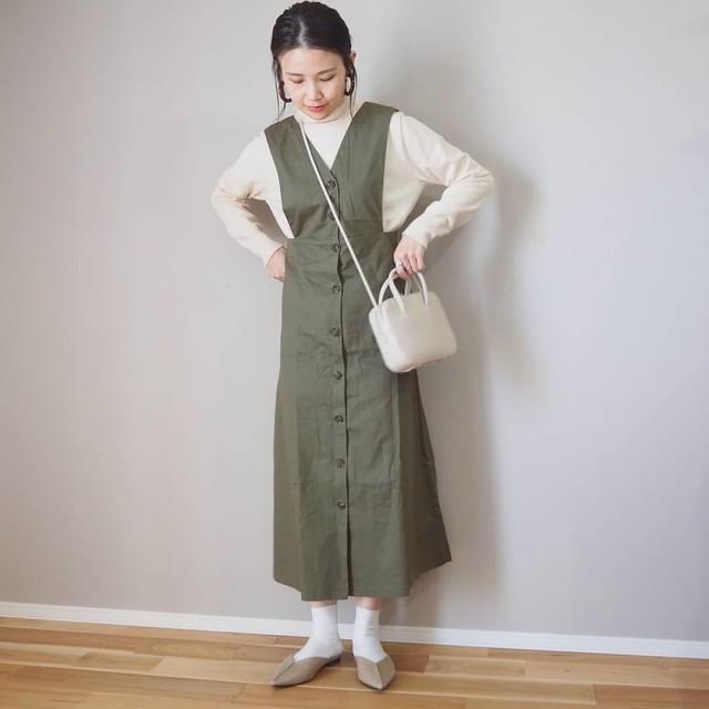30代40代のナチュラル派さんに! サロペット風のジャンパースカート