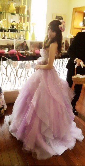 8608c8d4840ed カラードレス 結婚式 披露宴のコーディネート一覧