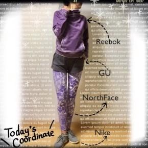 473476f27541f これこそ正にオシャレ上級者! 紫の柄ものランニングタイツで足