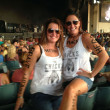 Jessica Hughes-Ford and Megan Hughes at Dixie Chicks concert.