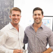 Richard Hester (left) and Taylor Ragsdale (right) at Art on the Avenue preview party