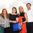 Rebecca Hoffman, Jordan McPhail, Arabella and Jamie Hibbert at Barbara Bush Foundation gala kickoff