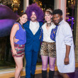 Purple party, Jaquel Andrews, Fritz McDonald, Beth Muecke, Joubaier Joubert