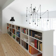 Houzz Austin home house modern Texas farmhouse light fixture bookcase