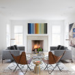Houzz Austin home house modern Texas farmhouse living room