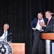Brookwood luncheon, co-chair Brad Tucker with son Citizen Frank and Governor Greg Abbott
