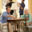 Neil Bush, Barbara Bush, scrabble, 4/2016