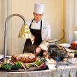 Hotel Galvez brunch carving station