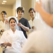 Spa at Hotel Galvez wedding bride