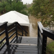Brenner's on the Bayou party tent flooding