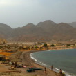 Coastal view from the top of the bluff known as Ras Shitan, or Devil's Head at Sinai Egypt