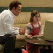 Michael Fassbender and Makenzie Moss in Steve Jobs