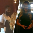 Houston, Khloe Kardashian and James Harden, August 2015, Chipotle