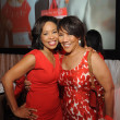 Gina Gaston, Myrtle Jones at Go Red for Women luncheon
