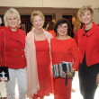 Go Red for Women luncheon, Liz Jameson, Diane McClymonds, Roz Pactor, Leila Gilbert